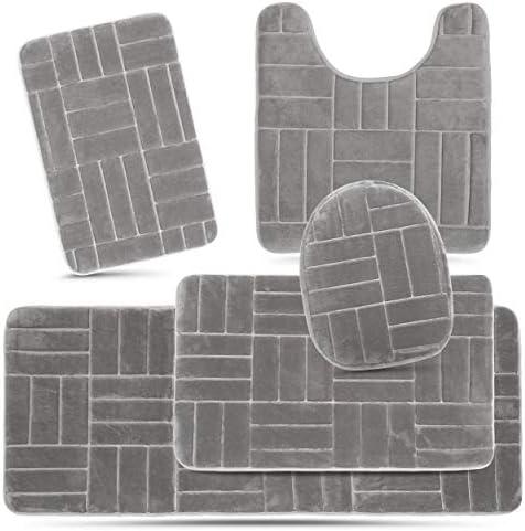 Top 10 Best 5 piece bathroom rug set Reviews