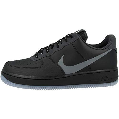 Nike AIR Force 1 '07 LV8 3, Chaussure de Basketball Homme, Black Silver Lilac Anthracite White, 44.5 EU