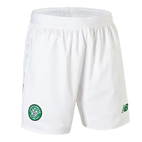 New Balance Men's Celtic Football Home Short, White, 2XL