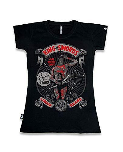 Liquor Brand - Damen T-Shirt - Side Show (Schwarz) (S-L) (L)