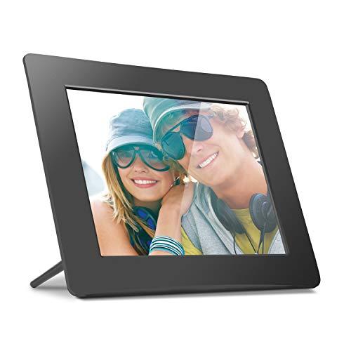 Aluratek 8 Inch LCD Digital Photo Frame with Auto Slideshow Using USB SD/SDHC (ADPF08SF) - Black