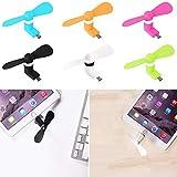 NoyoKere Mini Ventilador portátil USB Tipo C, Ventilador de refrigeración Tipo C USB-C, Adecuado para el teléfono Xiaomi 5 mi5 mi4c Huawei P9(Color al Azar)