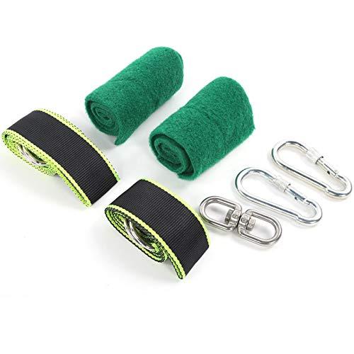 DAUERHAFT Juego de cinturón de Columpio Cuerda de Columpio para Exteriores fácil de Llevar para Silla Colgante(Swing Belt Set)