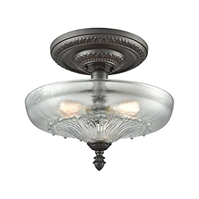 Elk Lighting 66395-3 Close-to-Ceiling-Light-fixtures, 15 x 15 x 15, Bronze