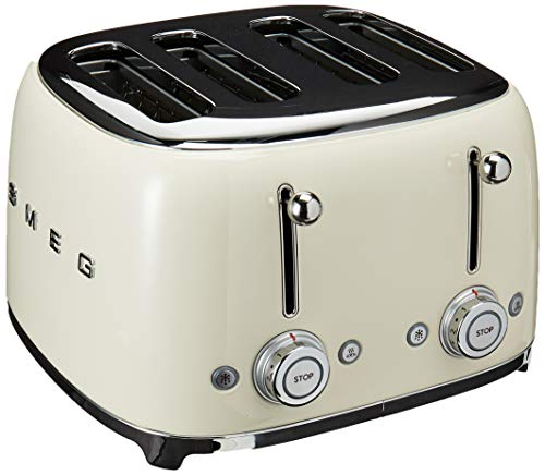 Smeg 4 Slot Toaster Cream TSF03 CRUS