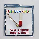 Bowerful 25 pcs Pre-soldered Rainbow RGB Flashing SMD Led 0605 + Muti-Resistor Micro Litz Wired Leads