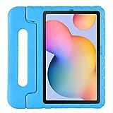 Kavon Kids Case para Samsung Galaxy Tab S6 Lite 10.4 P610 / P615 2020, Mango Convertible a Prueba de Golpes Soporte Funda Protectora Ligero EVA Kids Friendly Case para 10.4 Pulgadas (Azul)