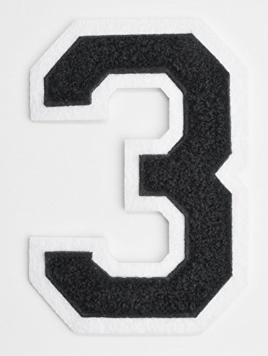 embroidered number 3 - 8