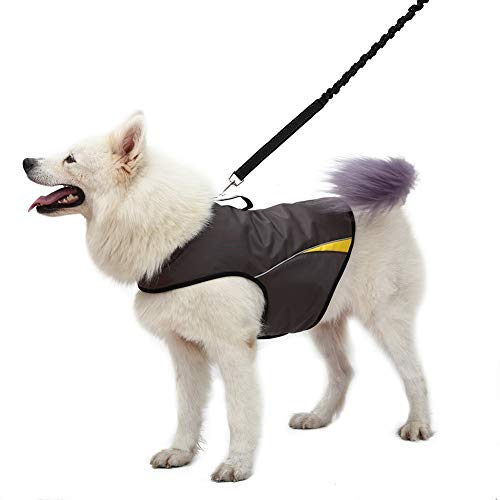 WINBATE Adjustable Dog Anxiety Jacket-Keep Calming Vest Thunder Shirt with D-Ring and Training Handle for Large Dogs,Gary