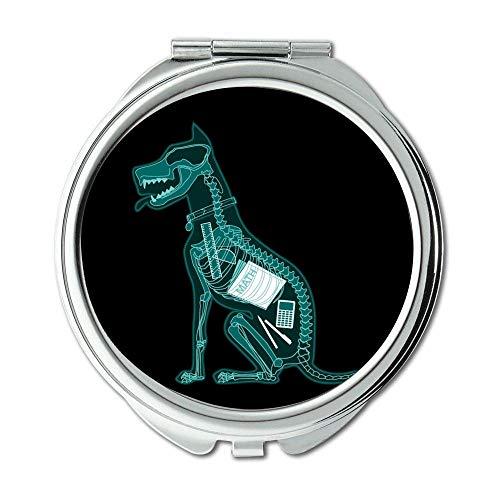 Specchio, specchio per il trucco, Bulldog inglese, specchio tascabile, 1 ingrandimento X 2X