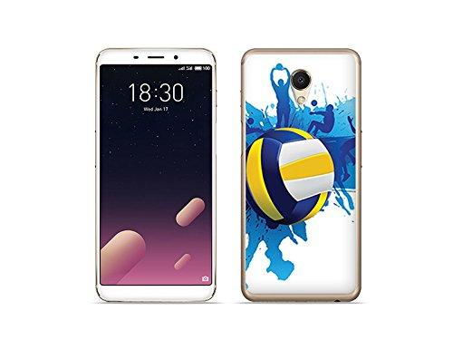 etuo Handyhülle für Meizu M6s - Hülle Fantastic Case - Volleyball - Handyhülle Schutzhülle Etui Case Cover Tasche für Handy