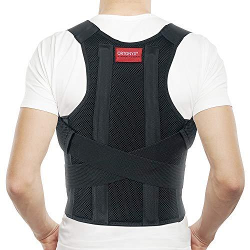 ORTONYX Cómodo Corrector de Postura Soporte de Espalda para Clavícula y Hombro, Totalmente Ajustable para Hombres y Mujeres / 656A-XL