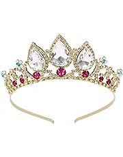 Tiara de cristal de princesa con diamantes de imitación de oro corona Brithday Crystal Headpiece Party Accesorios de joyería para el cabello para mujeres y niñas