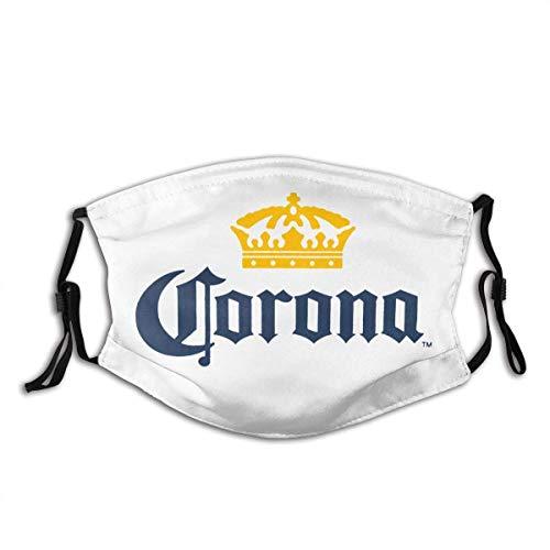 GUPENG Anti-Staub-Mundschutz, verstellbarer Gesichtsschutz, Herren-Nase, Mundschal, Unisex-Gesichtsdekoration, Co-Rona Extra Bier-Logo