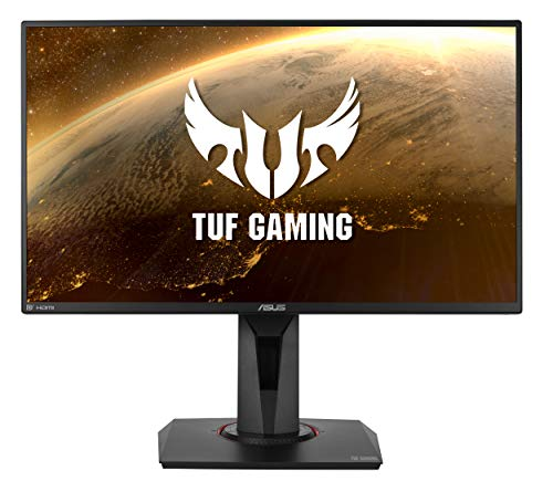 """ASUS VG258QM TUF Gaming - Monitor de Gaming de 24.5"""", Full HD 1920 x 1080, 280 Hz, 0.5 ms, Extreme Low Motion Blur Sync, Compatible con G-Sync, DisplayHDR 400, Gris a Gris"""