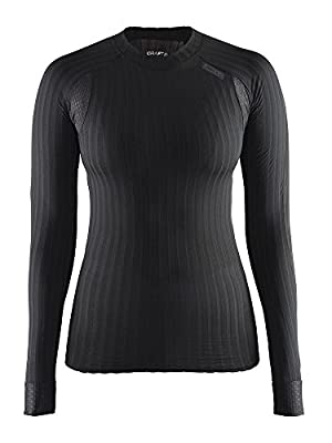 Craft Womens Active Extreme 2.0 Long Sleeve Tight Fitted Base Layer Shirt, Black, Small