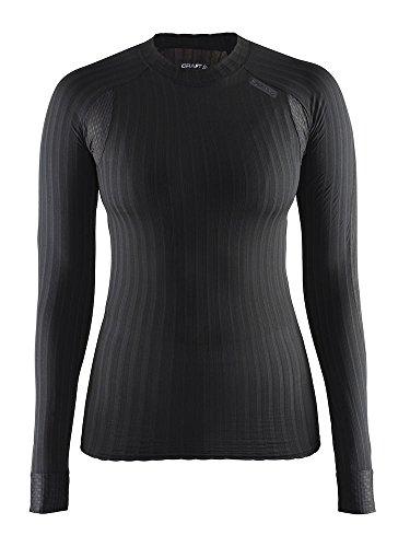 Craft Active Extreme 2.0 sous-vêtement Ras du Cou Manches Longues Femme, Noir, FR : M (Taille Fabricant : 38: M)