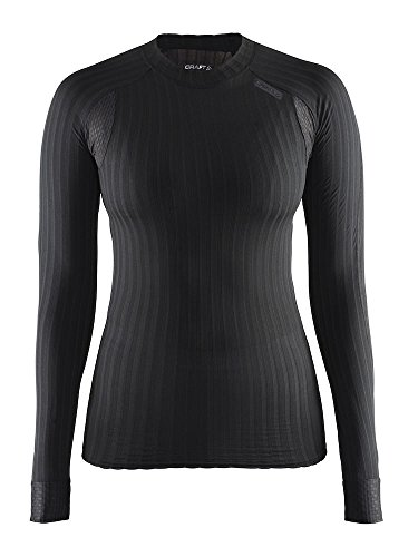 Craft Womens Active Extreme 2.0 Long Sleeve Tight Fitted Base Layer Shirt, Black, Medium