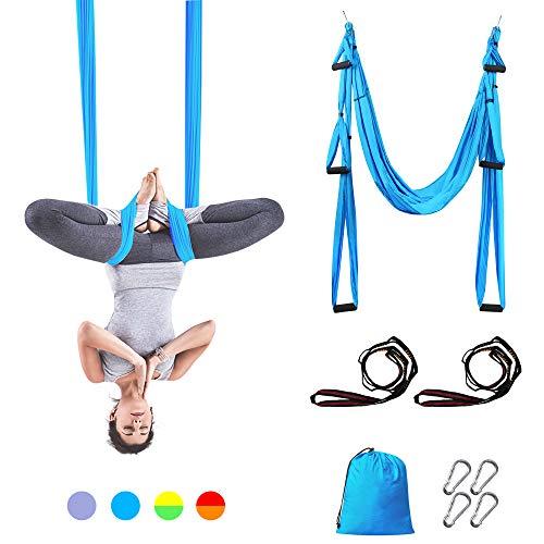 Sotech - Antigravity Yoga Hammock, Yoga Swing Set, Turquoise, Daisy Chain 1.2 meters, Tamaño: 250 x 150 cm, Tamaño plegado: 26 x 24 x 11 cm