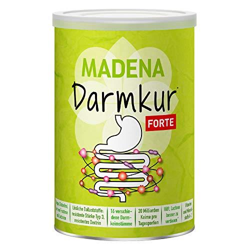 MADENA Darmkur Forte | 16 verschiedene Bakterienstämme I selektiert + hochdosiert I 20 Milliarden Keime pro Portion I Resist. Stärke Typ 3 I vegan