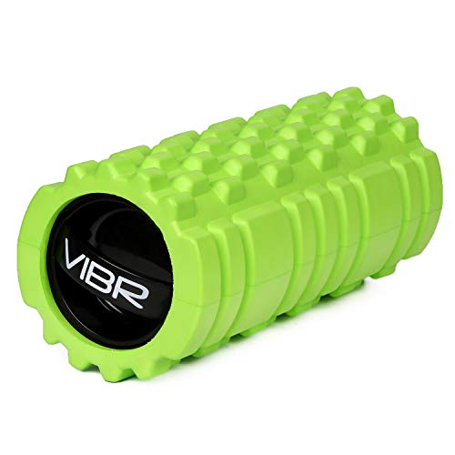 VIBR Foam Roller   Emerge Fitness   Vibrating Foam Roller w/ Massaging Grooved Texture for Trigger Point Massage amp DeepTissue Muscle Recovery   MultiLevel Vibration Settings 1Week Battery Life