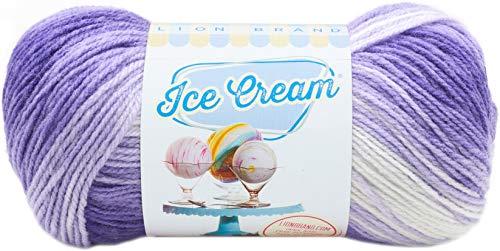 Lion Brand Yarn 923-210 Ice Cream Yarn, Grape