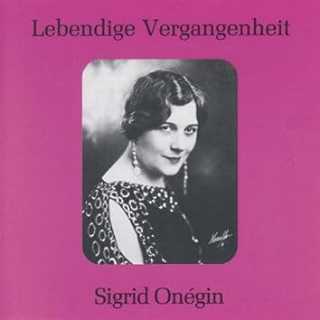 Lebendige Vergangenheit - Sigrid Onegin
