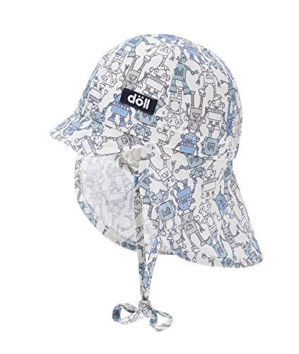 Döll Baby-Jungen Bindemütze mit Schirm und Nackenschutz Mütze, Blau (Dream Blue 3510), (Herstellergröße: 49)