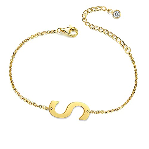 QJLE Ankle Bracelets for Women,Initial Gold Anklets for Women Teen Girls,Cute Letter Anklet Bracelet for Women with Initials,Summer Beach Jewelry