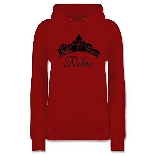 Skyline - Skyline Rome Italien Italy - XL - Rot - JH001F - Damen Hoodie und Kapuzenpullover für Frauen