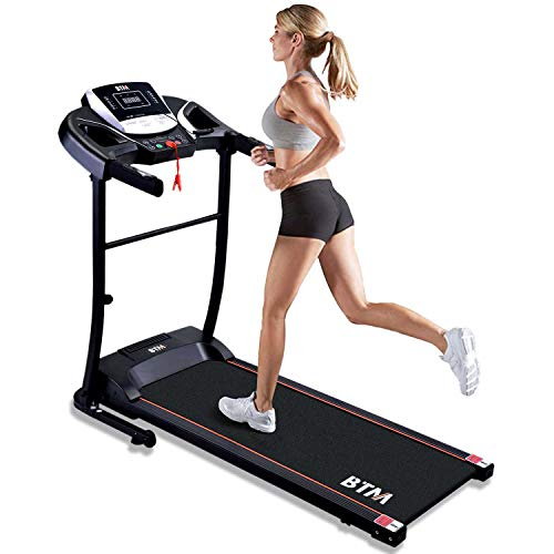 Merax BTM Treadmill Folding Running Machine Treadmill,15 Pre-Programs,99% Pre-assembled,With LED Display UP to 110kg