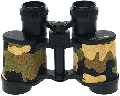 Binoculares 8x30 Binoculares Nivel de luz de bajo Perfil Visión Nocturna Telescopio para la Caza Pesca Camping/Fácil Transporte BKA4 Color de Camuflaje Negro (Color: Camuflaje)