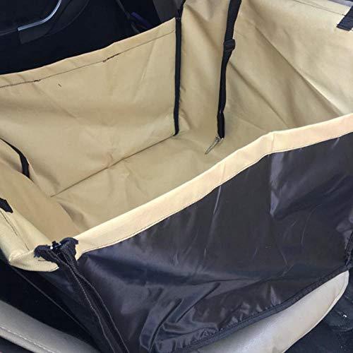Whinop Cubreasientos Coche Perro Amarillo Transportin para Perros para El Asiento Trasero