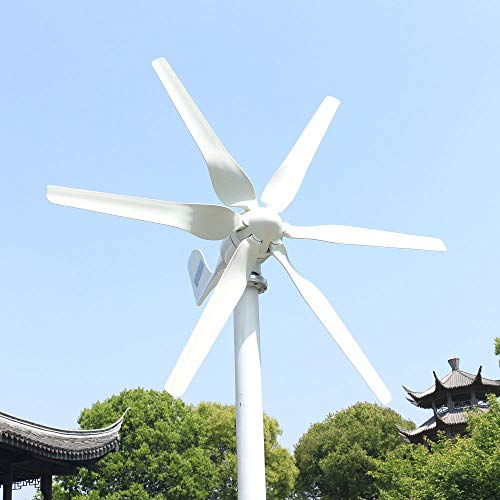 800W 12V 24V 48V Windkraftanlage Windturbine Mit MPPT Controller Horizontale 3 Phase AC Windgenerator Für Home bauernhof Straße Lampen 6 Blätter Windmühle (24V, 800W)