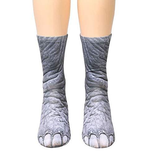 KEKEDA Animal Paw Sokken, Unisex Hond/Paard/Zebra/Varken/Poot Nieuwigheid 3D Gedrukt Lange Sokken