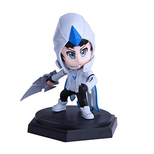 BHNACM LOL Spiel Modell White Skin Talon Thresh Action-Figur Zeichentrickfigur Modell-Dekoration Statue A
