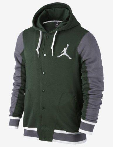 Nike–modalità H Giacche–Giacca Jordan Varsity, Verde (Verde), XXX-Large