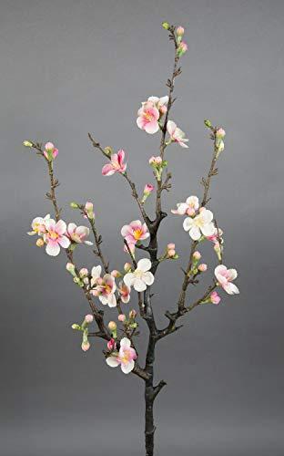 Seidenblumen Roß Kirschblütenzweig/AST 75x30cm rosa-Creme GA Kunstblumen künstliche Kirschblüten Blumen