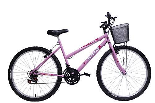 Bicicleta Aro 26 Feminina de Passeio 18 Marchas Saidx