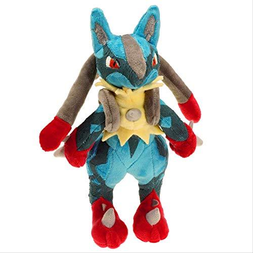 siqiwl Peluche 32cm Lucario Plüsch Puppe Spielzeug Baumwolle Nette Mega Lucario X & Y Weiche Stofftier Peluche Spielzeug Geschenk Für Kinder