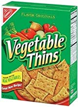 Nabisco, Vegetable Thins, Baked Snack Crackers, 8oz Box (Pack of 3)
