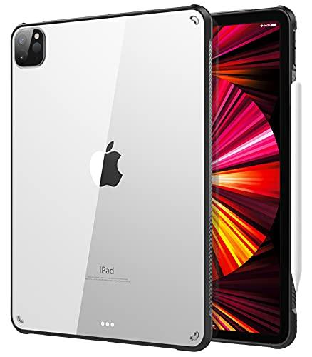 TiMOVO Hülle für New iPad Pro 11 inch 2021 (3rd Gen), Unterstützt 2nd Gen Apple Pencil Kabellose Ladung Transparent Cover R&umschutz Schutzhülle Kompatibel mit iPad Pro 11
