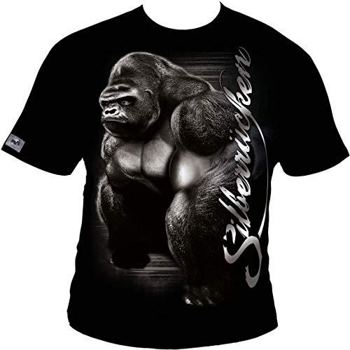 SR151 Silberrücken Big Gorilla Herren T-Shirt Größe 3XL, Farbe Schwarz