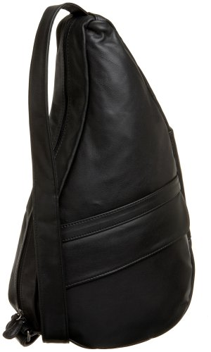 AmeriBag Classic Leather Healthy Back Bag Medium Black Size: Medium