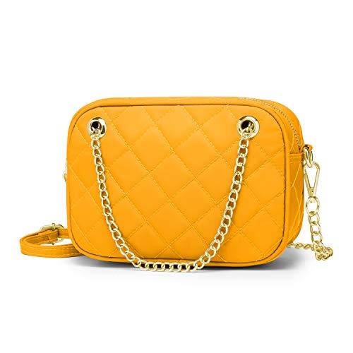 Wind Took Umhängetasche Damen Kleine Mode-Kette Tasche Crossbody Bag Handtasche Abendtasche Citytasche für Hochzeit Party Disko, 21x14.5x7 cm