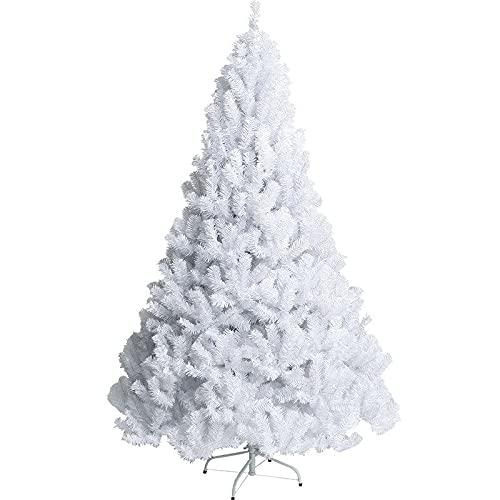 Bravo Home - Árbol de Navidad Artificial 90 cm, Color Blanco, Soporte...