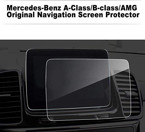 LFOTPP Mercedes Benz A B klasse AMG 8 inch navigatie beschermfolie - 9H krasbestendig anti-vingerafdruk pantserglas displaybeschermfolie GPS Navi folie