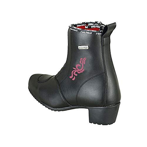 Profirst Global Damen Motorrad Pink Flower Boot - Damen Motorrad Waterproog Heel Schuhe 4 / EU 38