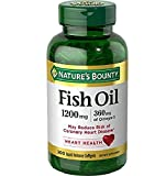 """FOR YOUR HEART: 200-count, 1200 milligram, 360 milligram of Omega-3, Fish Oil Softgels. Omega-3 Fish Oil is among the superfoods whose benefits may include lowering the risk of coronary heart disease"". ""OMEGA-3 EPA & DHA: Nature's Bounty Fish Oil So..."