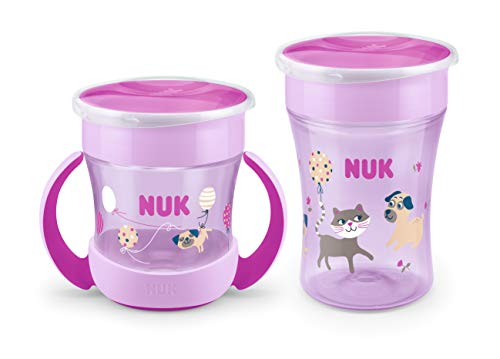 NUK Magic Duo - Set con bordo per bere a 360°